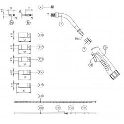 Haltenippel Teflon 1,2 2,0x4,0_1001