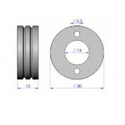 Drahtantriebsrolle Stahl 0,8-1,0 2+2/4 R.Antrieb_2237