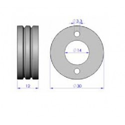 Drahtantriebsrolle Stahl 1,0-1,2, 2+2/4 R-Antr._2238